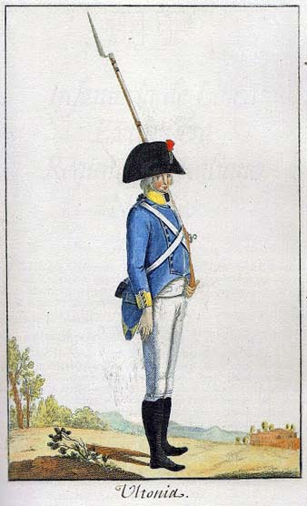 Uniforme del regiment Ultònia. 1805